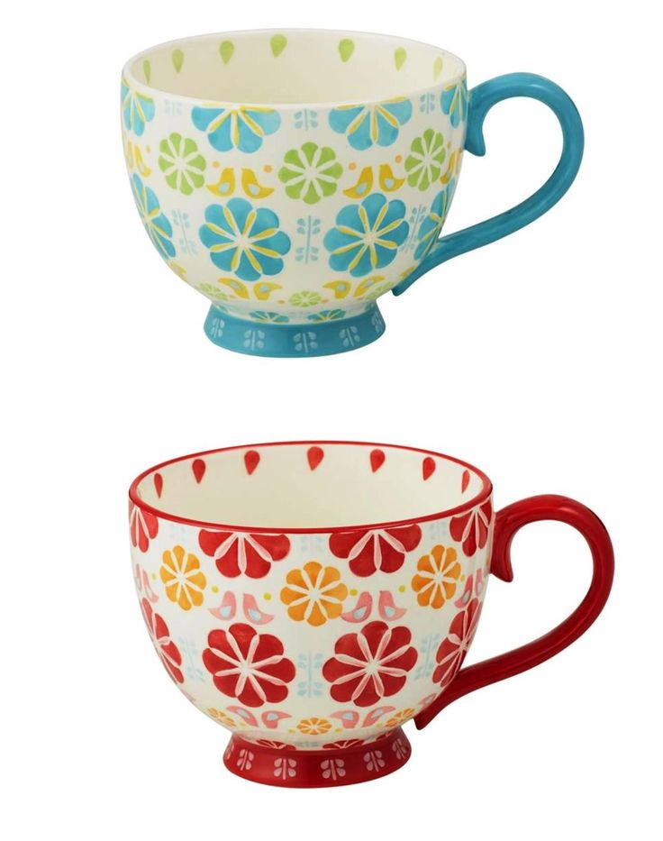 NEW ANNA GARE PEGGY JUMBO CUP Coffee Tea Drinking Hot Chocolate BLUE OR RED