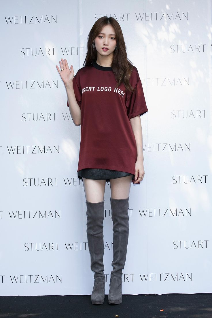 Lee Sung-Kyung in STUART WEITZMAN thigh boots