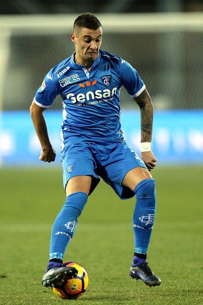 Rade Krunic of Empoli FC in action during the Serie A match between Empoli FC and US Citta di Palermo at Stadio Carlo Castellani on January 7, 2017 in Empoli, Italy.