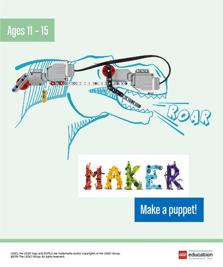 Encourage your students to use their imagination to make puppets that can be used for a play or to tell a story. They can use LEGO® bricks or sketch out ideas on their worksheets. Students can share their ideas in groups and work together to decide the best idea to make. As they begin to build their puppets, encourage them to test and analyze their ideas. Once the puppets are complete, have students share what they made. You can even have them put on a puppet show!