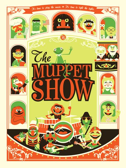 The Muppet Show: It's Not Easy Being Green Variant Disney Underground Silkscreen Print by Dave Perillo