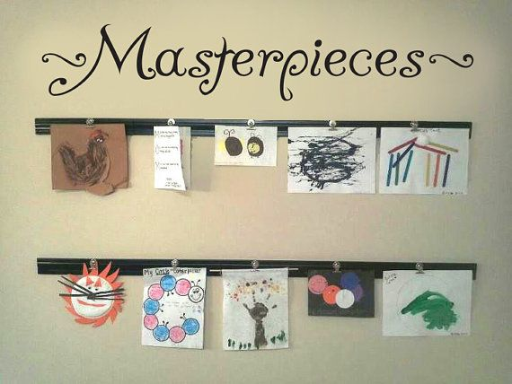 """MASTERPIECES Wall Decal Vinyl Wall Sticker For Kids Art Display Quote 36"""" Wide BLACK on Etsy, $16.99"""