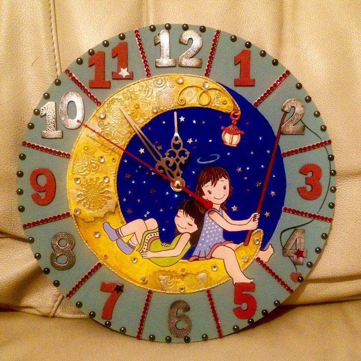 Cute Kids Clocks for time studying and room decor, Kids room decor, Unique wall clocks, Kids clocks, Unusual clocks, Childrens gift idea by DOSHE on Etsy