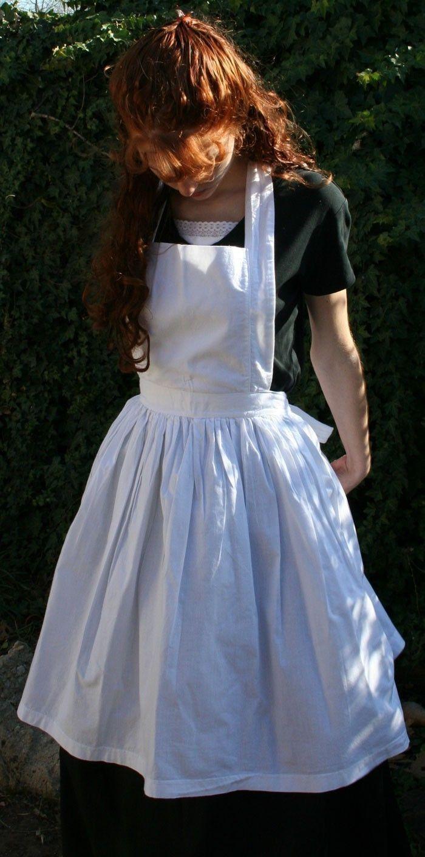 White apron fancy dress - Ladies Bib Apron 30 00 Via Etsy