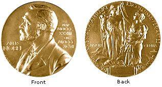 Nobel Medal for Physics and Chemistry. Registered trademark of the Nobel Foundation. © ® The Nobel Foundation.