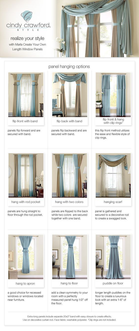 Curtain Styles... when you decided what curtains you want... www.homeology.co.za