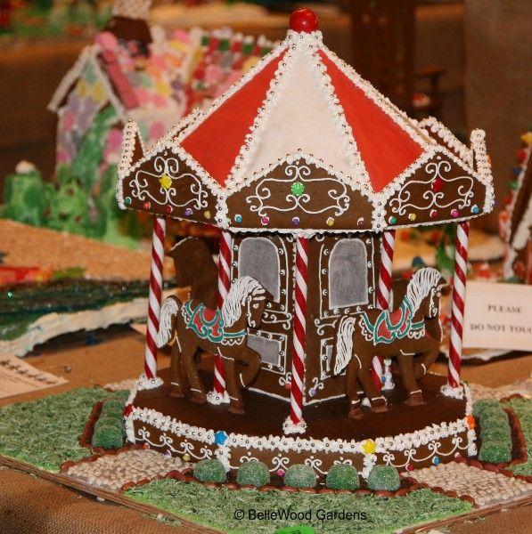 gingerbread house carousel