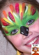 parrot face painting - Google Search