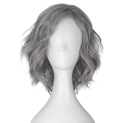Men Synthetic Wig Capless Short Loose Wave Grey Lolita Wig Party Wig Halloween Wig Carnival Wig Cosplay Wig Natural Wigs Costume Wigs 2018 - $16.14