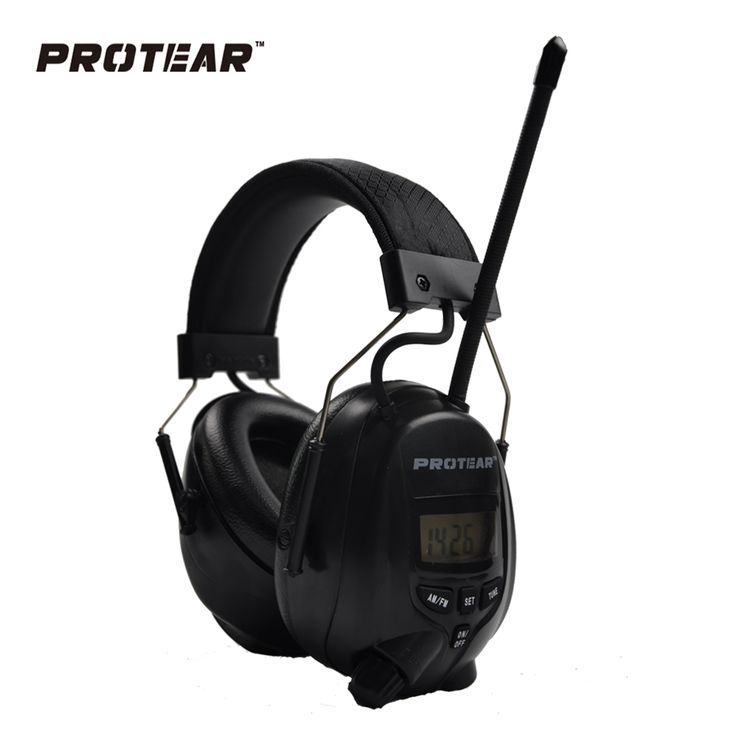 Protear NRR 25dB Electronic Hearing Protector AM FM Radio Earmuffs Electronic Ear Protection For Shooting Electronic Earmuff