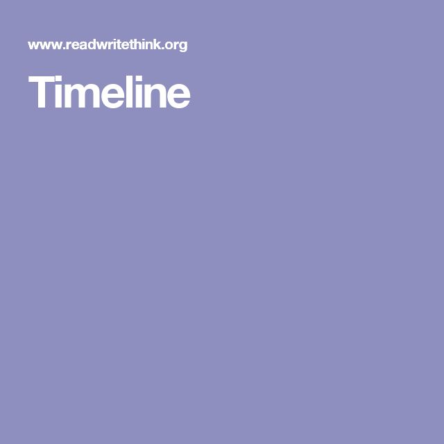 Siempre es útil crear líneas del tiempo en historia Timeline