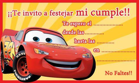 Tarjeta de cumpleaños de Cars