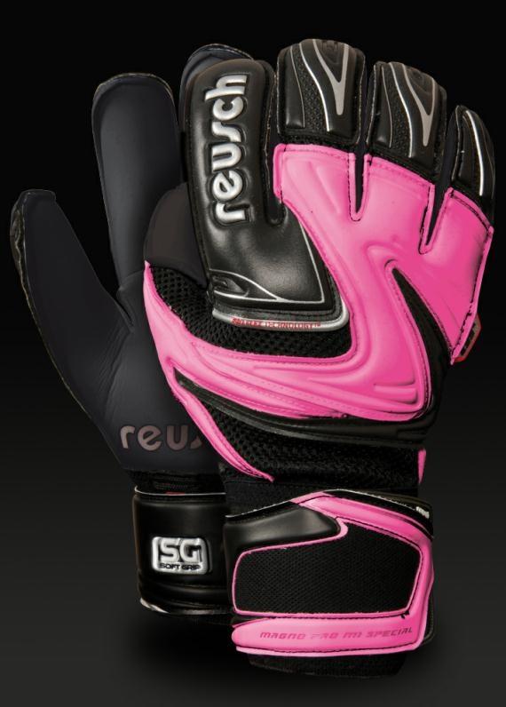 Reusch - Magno Air - Soft Ground - Goalkeeper Gloves - Black/Pink/White