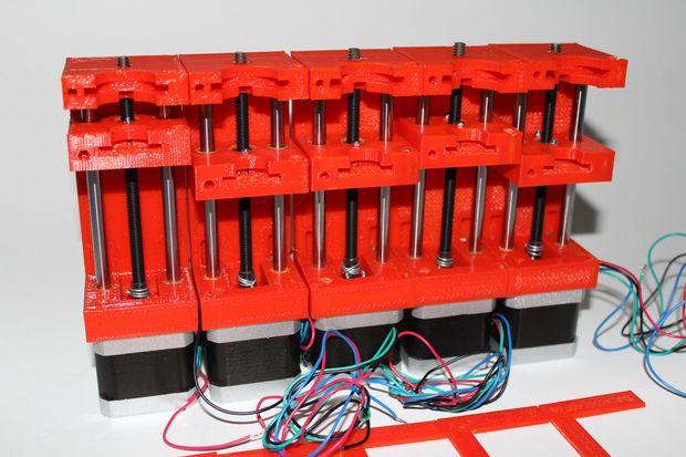 Picture of 3D Printed Syringe Pump Rack