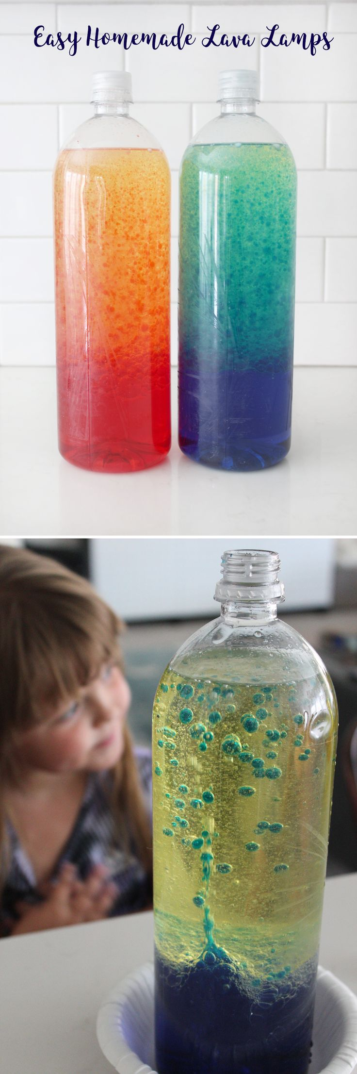 These homemade lava lamps were such a fun activity with my kiddos! They had so much fun, and it was super easy, too!