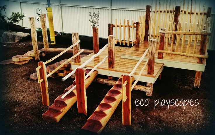 Junior wooden fort 0 design and created by Eco Playscapes