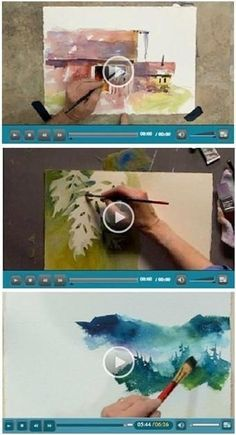 127 Free DIY Watercolor Videos - Jerry's Atrarama lets you enjoy more than 120 free watercolor how-to video demonstrations by talented watercolor artists. Beginner or advanced, you'll find helpful advice and techniques for your watercolor portraits, landscapes, seascapes and more. (Photo: Watercolor video demonstrations by Tom Jones and Linda Kemp) Click through to learn while watching your favorite videos. by lrnstinson