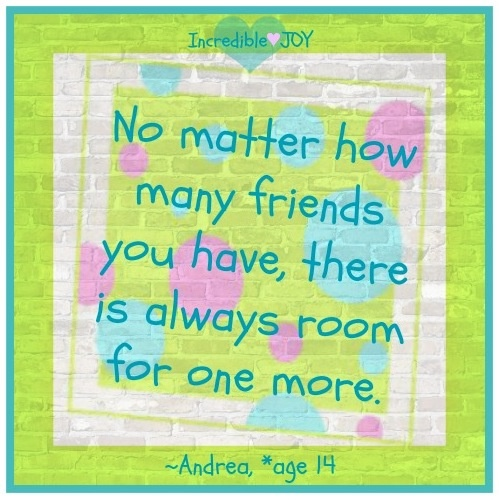 Friends quote via www.Facebook.com/IncredibleJoy