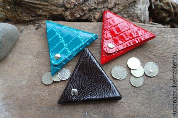 Купить Монетница - кошелёк для мелочи натуральная кожа - монетница из кожи, монетница, для мелочи, кошелек для мелочи