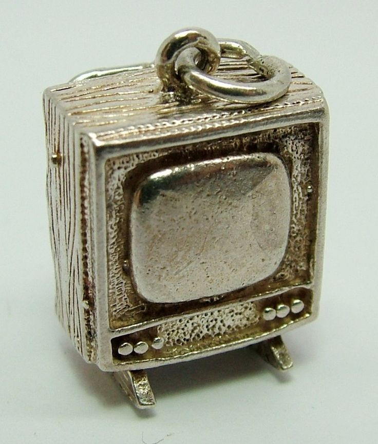 1970's Silver Television Set or TV Charm