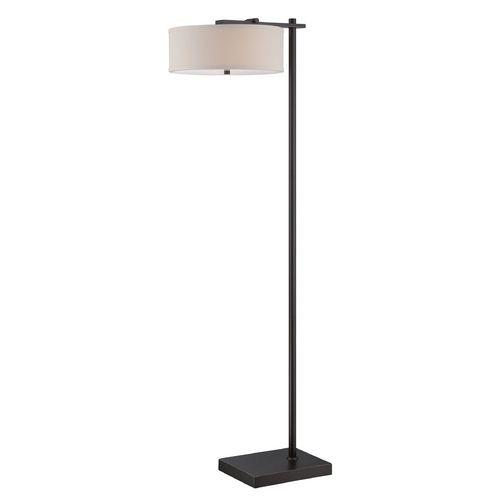 lite source lighting primareva dark bronze floor lamp with drum shade