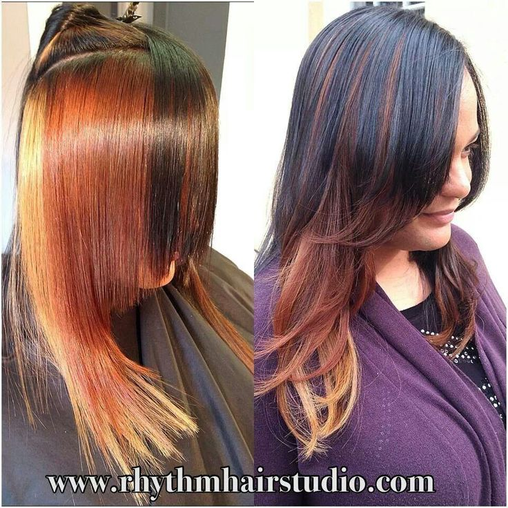 101 best crazy hair i love images on pinterest colourful hair cinnamon butterscotch and paprika peek a boo highlights solutioingenieria Images