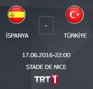Euro 2016 İspanya - Türkiye