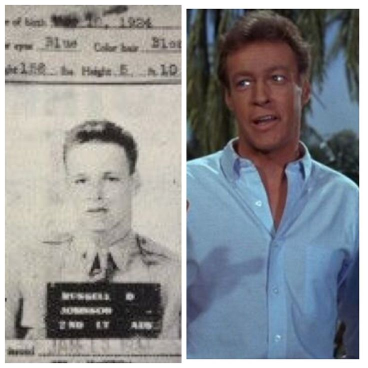 Russell Johnson-Army Air Corp & Reserves-WW2-Bombardier and navigator on B-24's in Pacific, 44 combat missions and shot down.(Actor)