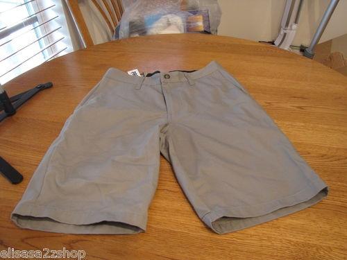 Men's Volcom walk casual shorts grey gray surf skate corpo class 28 NEW NWT logo