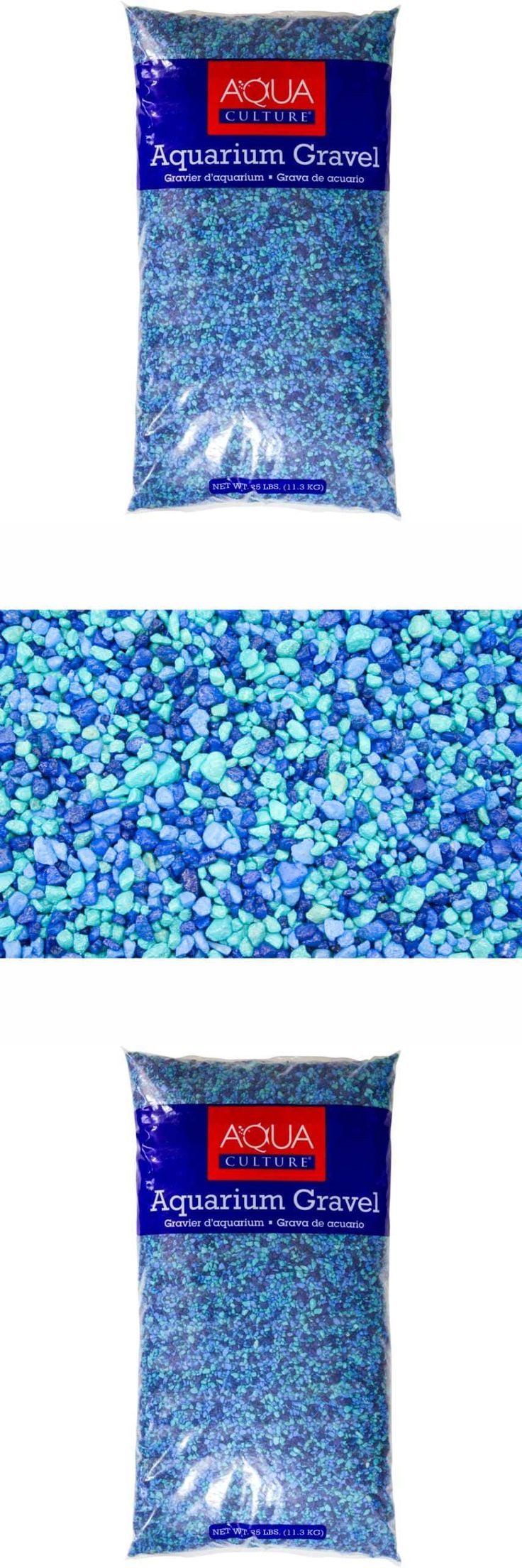 Gravel and Substrate 46439: 25Lb Blue Aquarium Gravel Colorful Epoxy Coated Fish Tank Accessory Surface New -> BUY IT NOW ONLY: $30.44 on eBay!