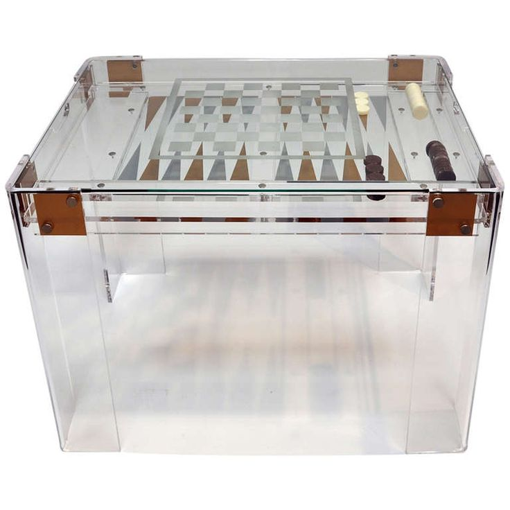 Annie Sloan S Aries: Chess, Checkers, Or Backgammon - Lucite Game Table