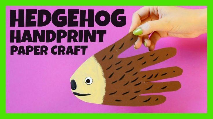 Handprint Hedgehog Craft - Fall crafts for kids