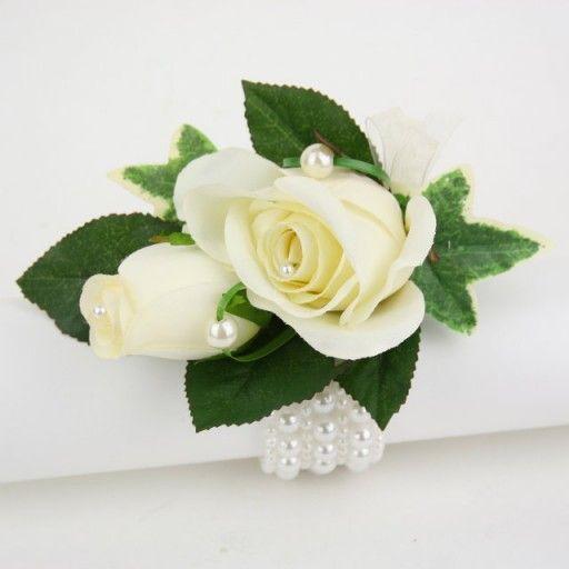 Ivory Rose Wrist Corsage