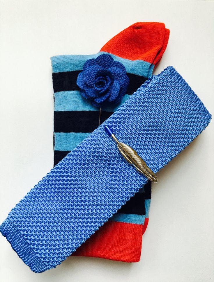Mens Silk Pocket Square - Sky Blue Candy Pink Stars by VIDA VIDA CVkKBFDq