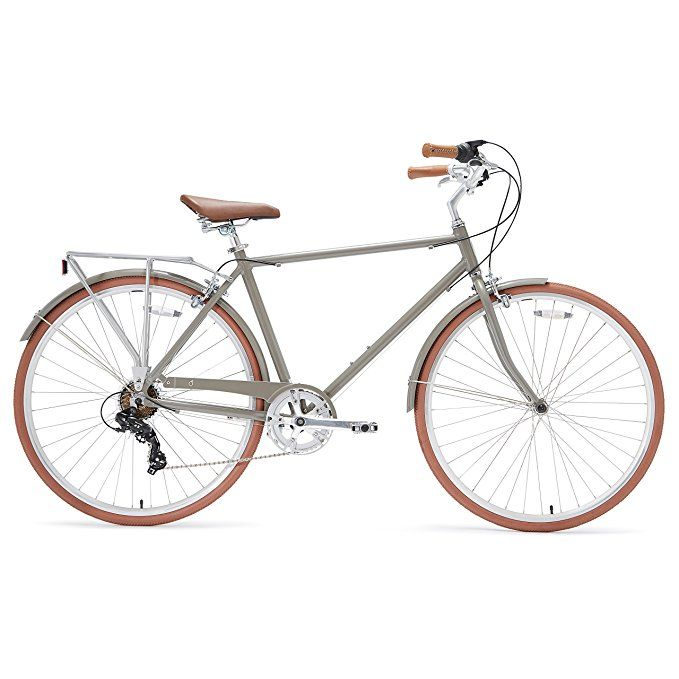 Amazon Com Sixthreezero Ride In The Park Men S 7 Speed City Bicycle 20 Inch Frame 700c Wheels Grey Sports Outdoo Bicycle City Bicycles Vintage Bicycles