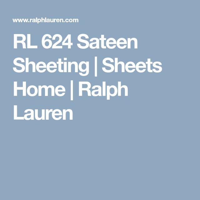 RL 624 Sateen Sheeting | Sheets Home | Ralph Lauren