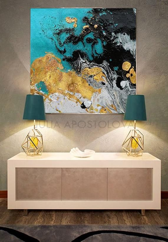 Upto 50 Black Gold White Teal Watercolor Print Etsy In 2020 Abstract Painting Large Wall Art Abstract Art Painting