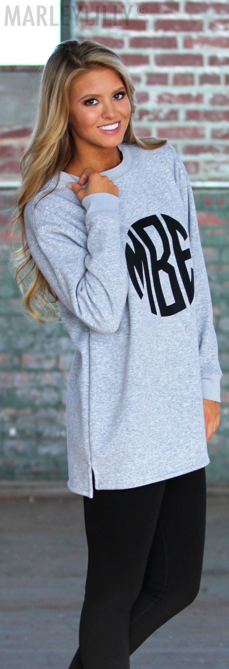 Sweater weather ready! Shop our Monogrammed Crewneck Sweatshirt ON SALE now!