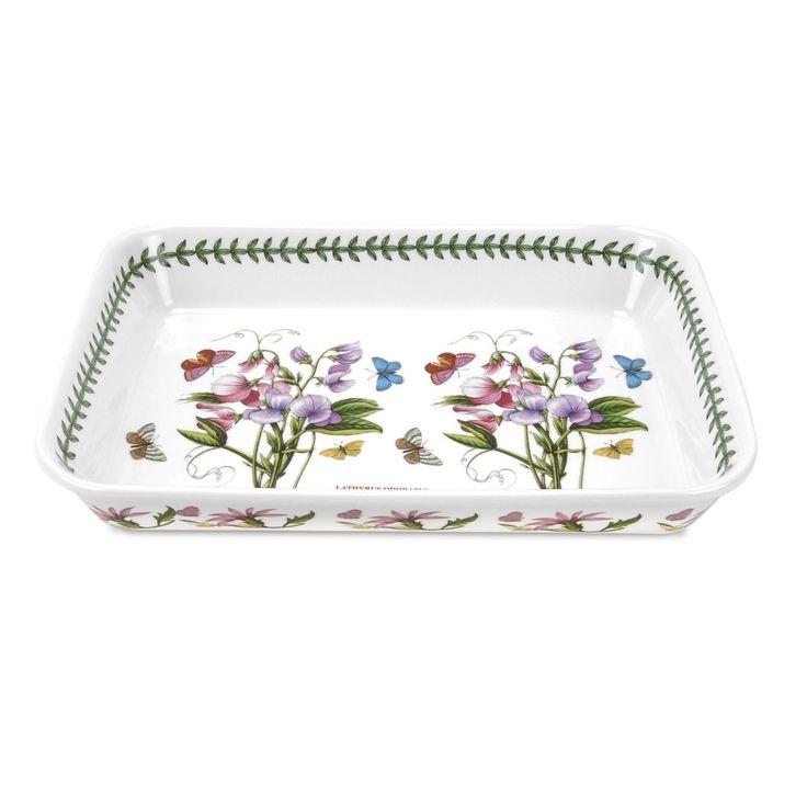 Portmeirion Botanic Garden Lasagne Dish 15 X 11 Inch Por
