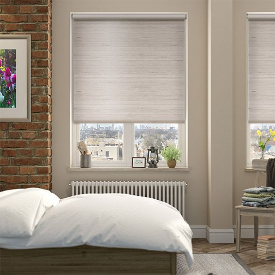Choices Dupioni Faux Silk Mink Blackout Roller Blind from Blinds 2go