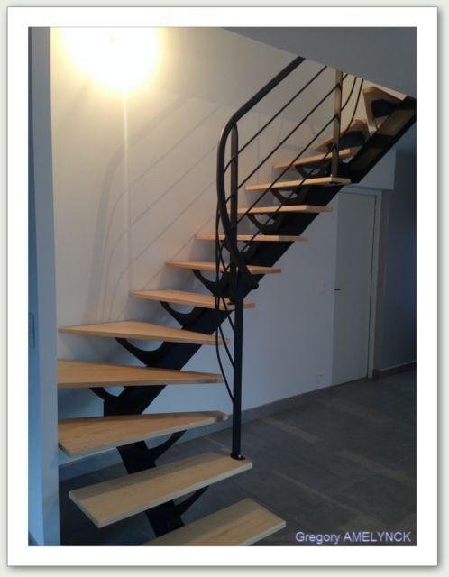 Escalier limon central -ferronnerie AG METAL 35