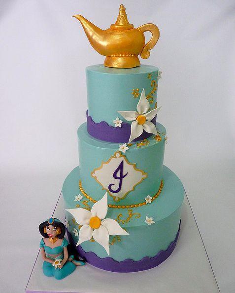 Gateau d'anniversaire jasmine et aladdin