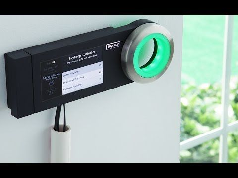 Smart Sprinkler Controller: Skydrop is the brain your automatic sprinkler system has always needed. Replace your existing sprinkler box with Skydrop, and connect to your wifi network (you'll need a strong signal), and it gathers weather data to optimize watering.