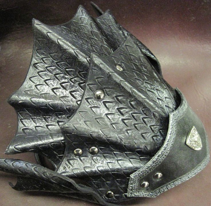 Dragon Scale Leather Armor Head Piece by SharpMountainLeather, $114.99