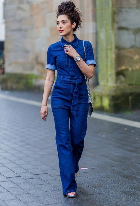 638ee7b611d What to wear with jeans jumpsuit 50+ best outfits  jumpsuit  outfit