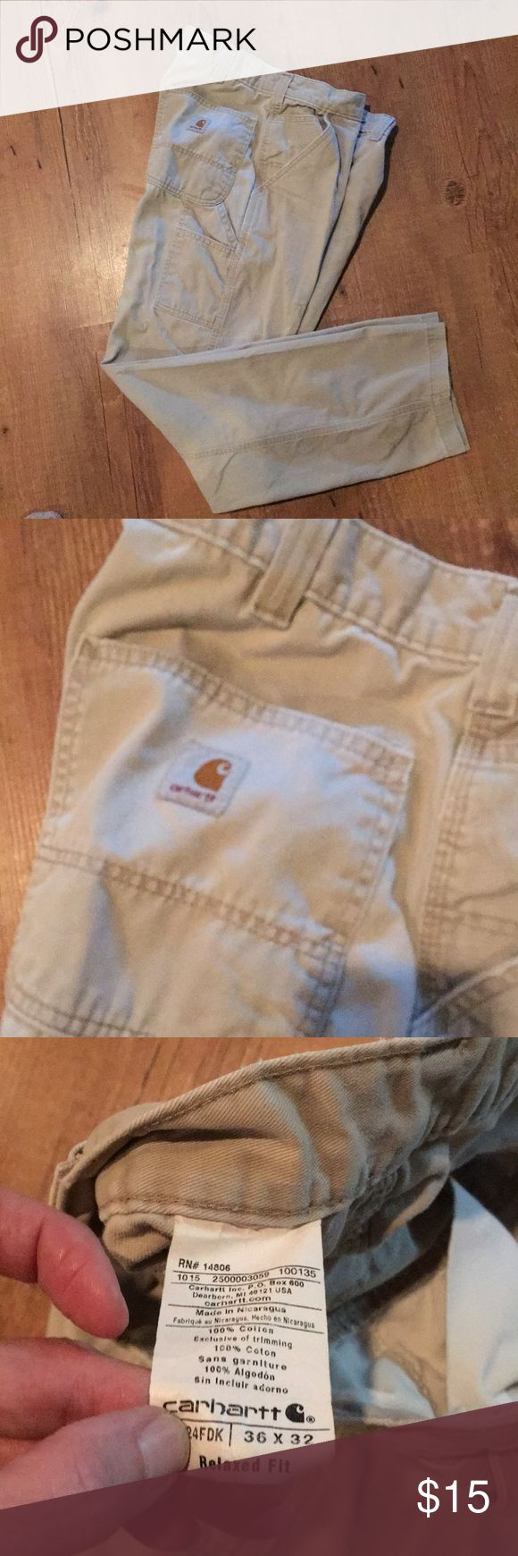 MENS CARHARTT KHAKIS * relaxed fit * like new * carpenter style * 100% cotton * I have 2 pair for sale!! Carhartt Pants Chinos & Khakis