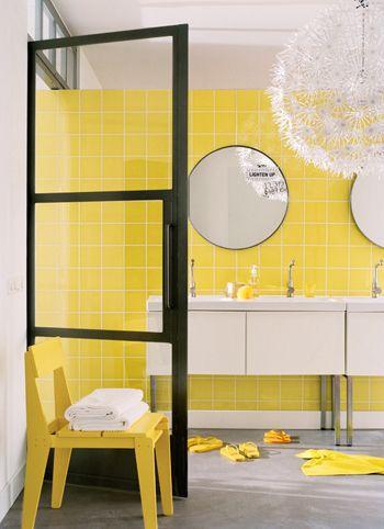 25+ beste ideeën over badkamer geel op pinterest, Badkamer