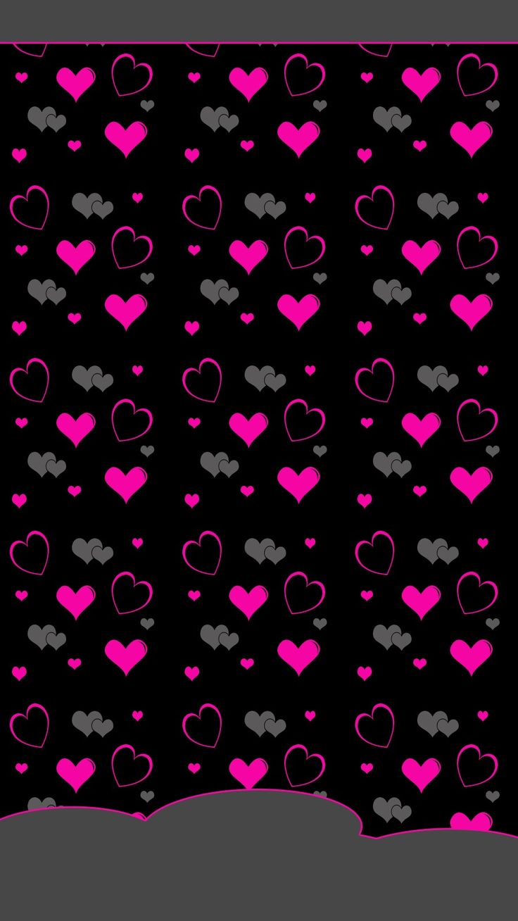 Pink and Black hearts Heart wallpaper, Valentines wallpaper