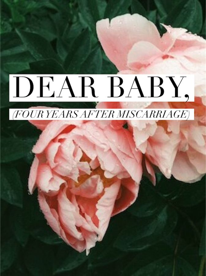 A mother shouldn't have to say good bye to her child. It feels unnatural because it is. Four years later the sting is gone, but the ache isn't. I miss you, Baby.  www.adrielbooker.com #gracelikescarlett #miscarriage #pregnancyloss #infantloss #grief