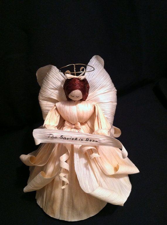 Corn Husk Angel by MariesCornHuskDolls on Etsy, $40.00